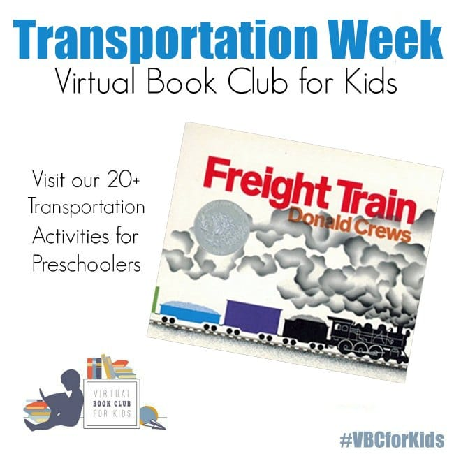 Transportation Week for Virtual Book Club for Kids