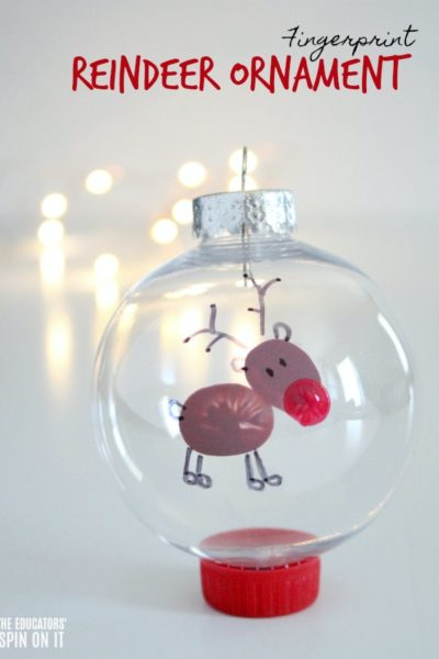 Fingerprint Reindeer Ornament