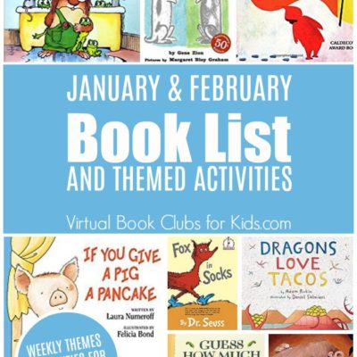 January and February Book List For Our Virtual Book Club for Kids