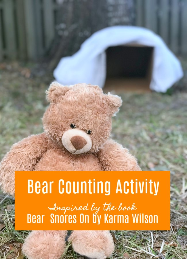 Bear Counting Activity inspired by Bear Snores On #eduspin