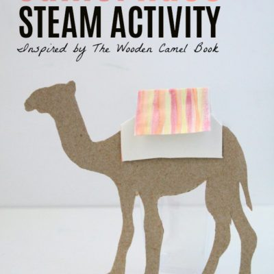 Camel Race STEAM Activity for Kids with Recycled Cardboard, Straws and Watercolors for kids