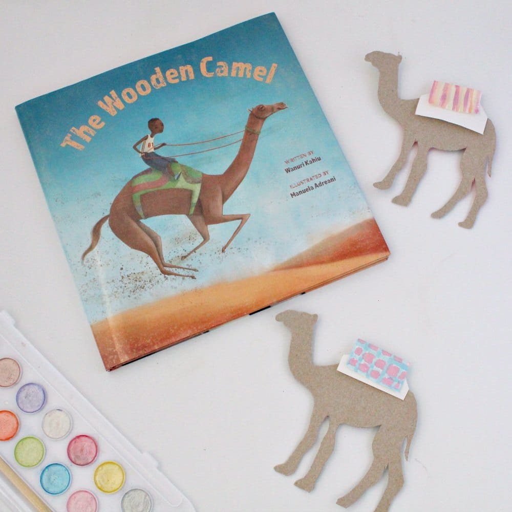 Camel Race STEAM Project for Kids Inspired by the book The Wooden Camel