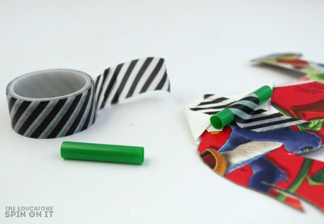 Camel STEAM Activity with tape, straws and cardboard