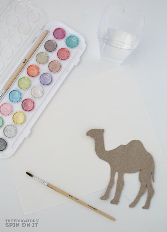 Camel Water Color Art Project for Kids