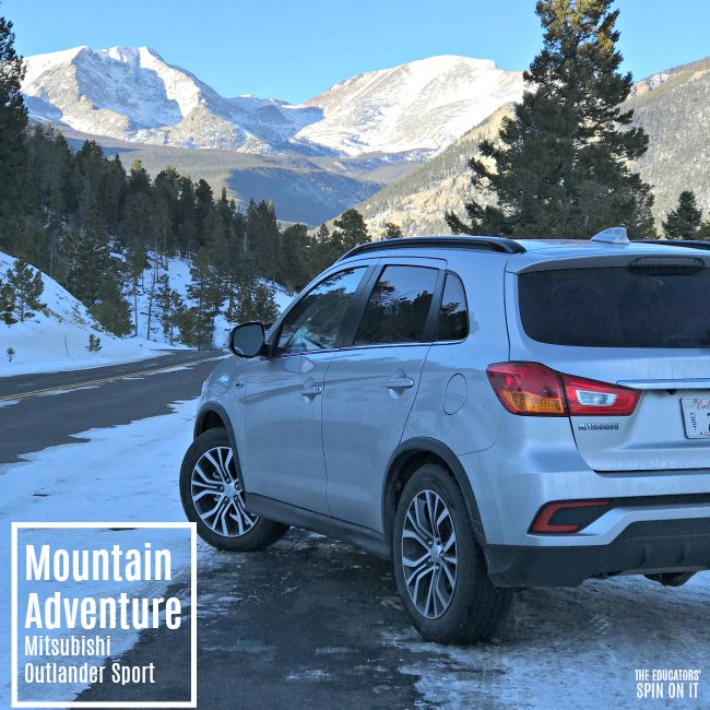 Mitsubishi Sport: Winter Mountain Adventure Driving A Mitsubishi Outlander