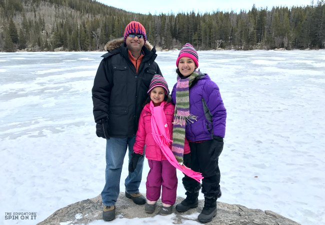 Family at Frozen Lakes at Rocky Mountain National Park in Colorado - Kim Vij