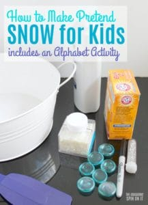 How to Make Pretend Snow for Kids #eduspin