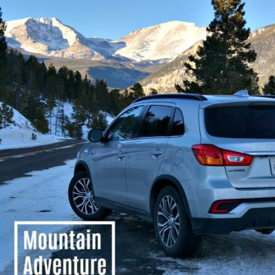 Winter Mountain Adventure Driving a Mitsubishi Outlander Sport 2.4