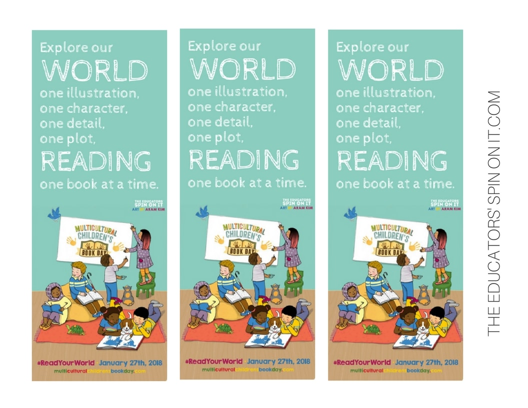 PRINTABLE #READYOURWORLD BOOKMARKS FOR MULTICULTURAL CHILDREN'S BOOK DAY