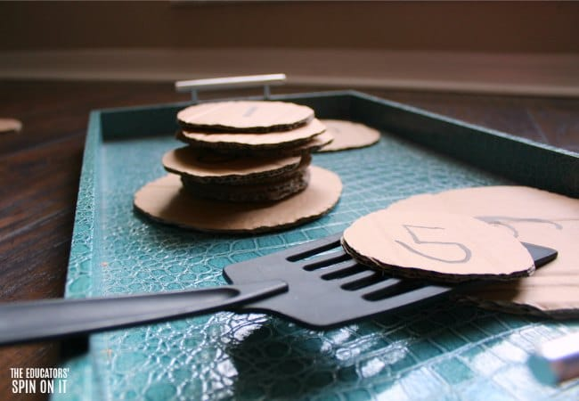 Pancake Math Activity for Preschoolers Inspired by If You Give a Pig a Pancake