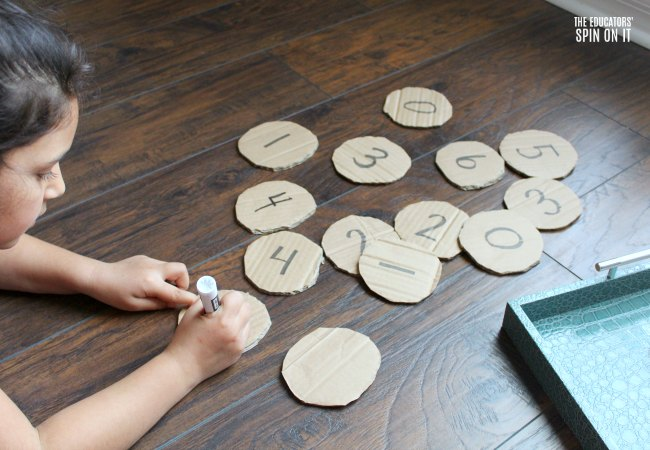 Pancake Themed Number Activity for Preschoolers
