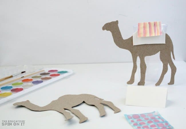 Racing Camel Art Project for Kids with Recycled Cardboard