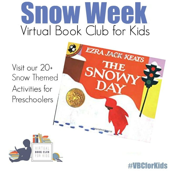 Snow Week for Virtual Book Club for Kids preschooler and Toddlers Activities #eduspin #vbcforkids