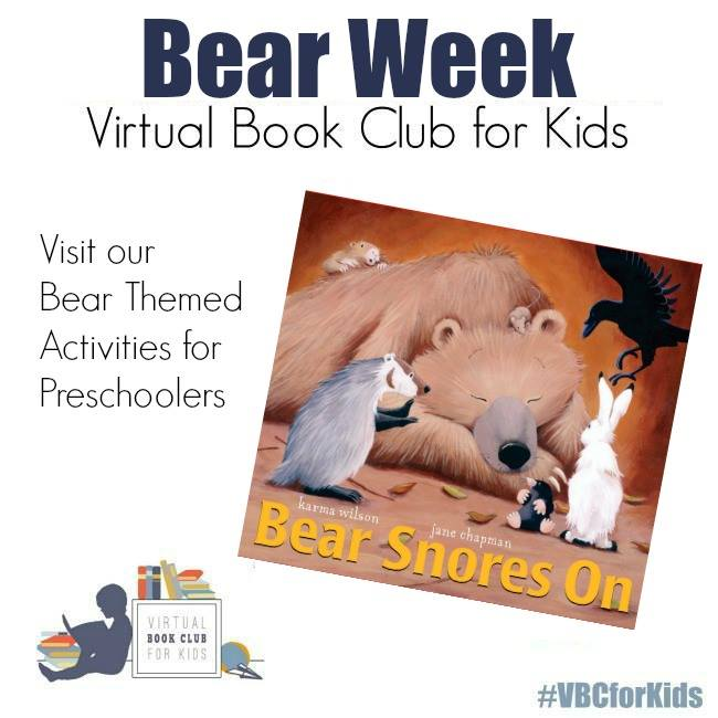 Bear Week at the Virtual Book club for Kids