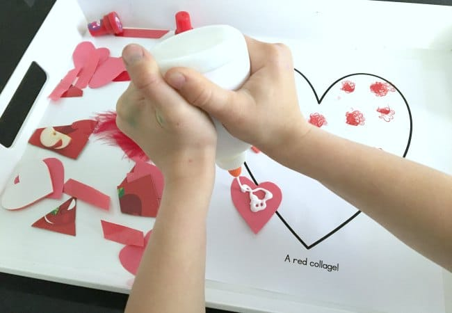 Collage Heart Art for Preschool and Toddlers