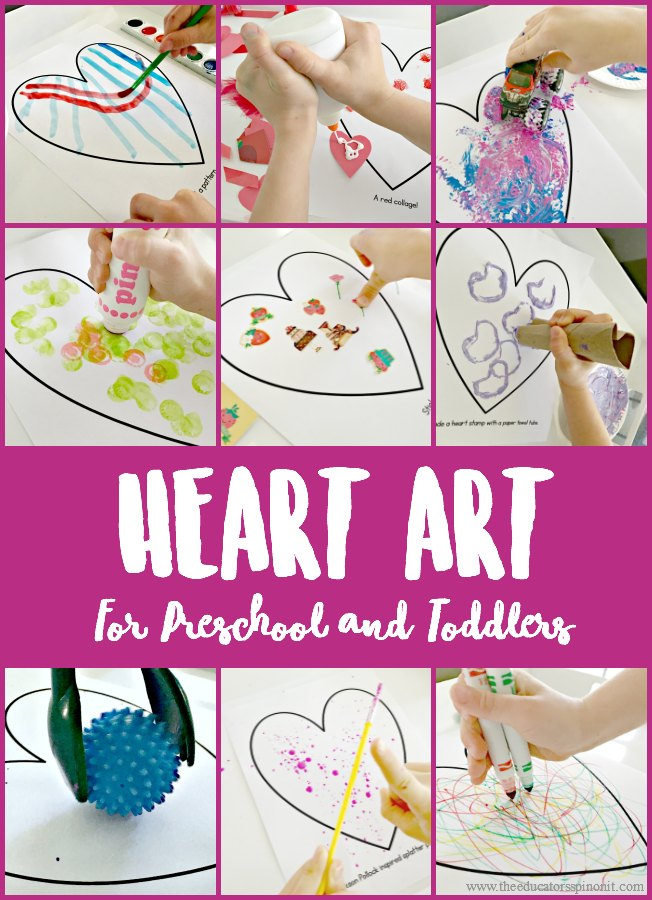 Heart Art For Preschool And Toddlers The Educators Spin On It