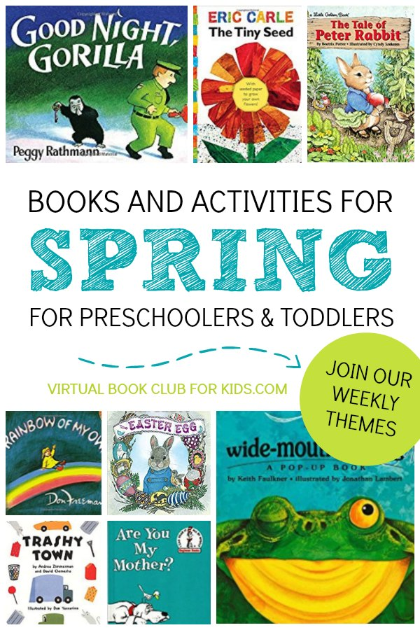 Spring Books and Themes for the Virtual Book Club for Kids