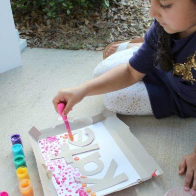 Drip Painting Rainbow Name Activity