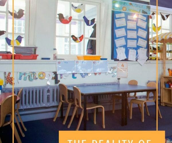 Elementary School Classroom without students
