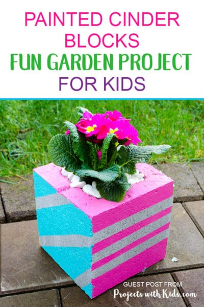 Painted Cinder Blocks Fun Garden Project for Kids