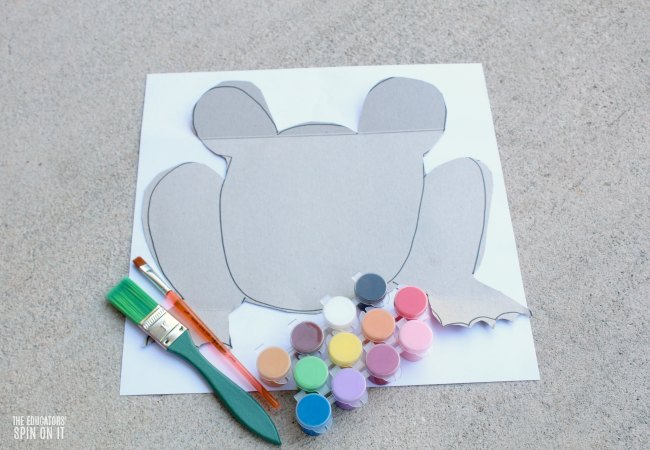 Frog Craft for Preschoolers with Recycled Cardboard and Paint