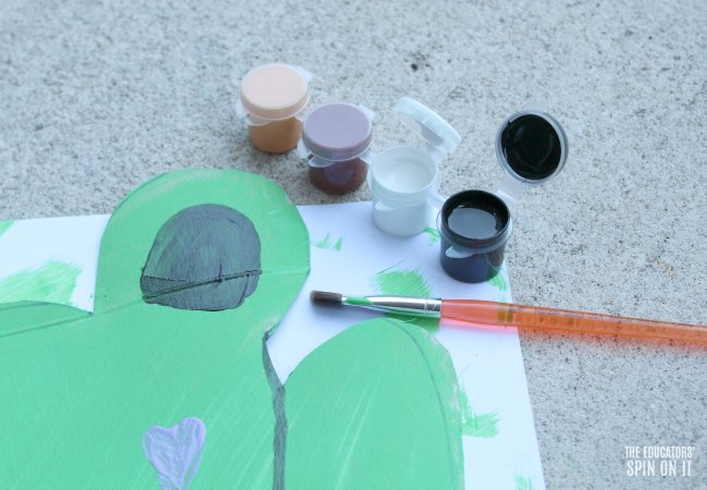 Frog Craft with Paint for Preschoolers
