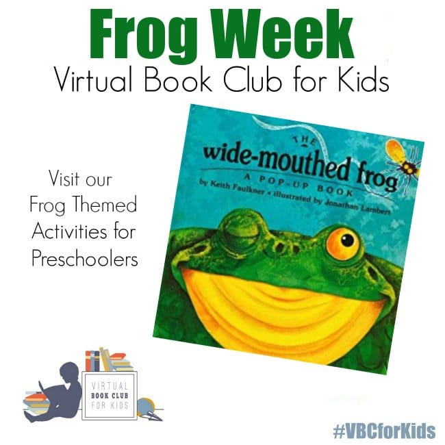 Frog Week for VBC Book Preschool Activities featured book Wide Mouthed Frog