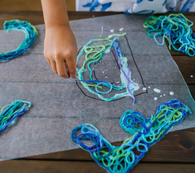How to Make String Letters for Alphabet Game with Kids