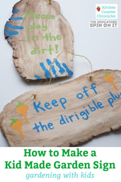 How to Make Kid Made Garden Signs