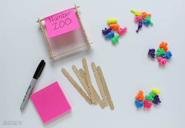 Math Game with Zoo Animals for Preschoolers