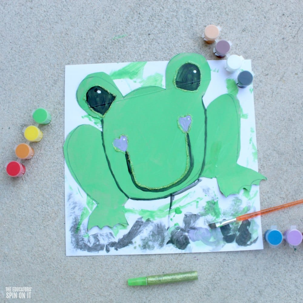 Painted Frog Craft and Game for Preschoolers