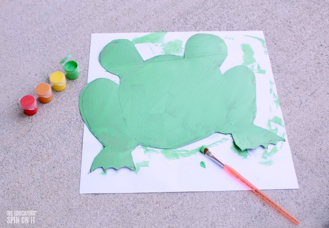 Painted Green Frog Craft for Preschoolers