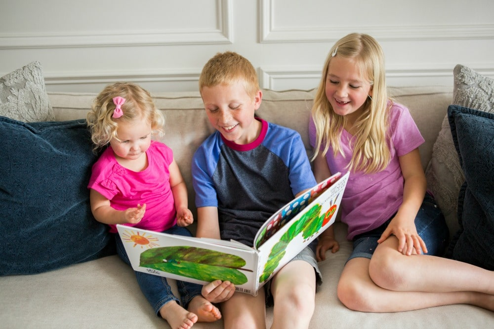 Reading Books with Siblings at the Virtual Book Club Summer Camp