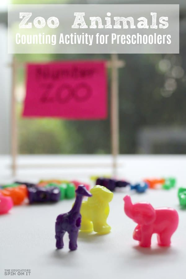 Zoo Animals Counting Activity for Preschoolers and Toddlers