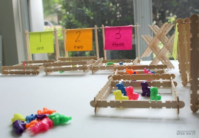 Zoo Themed Math Game for Kids with Zoo Beads