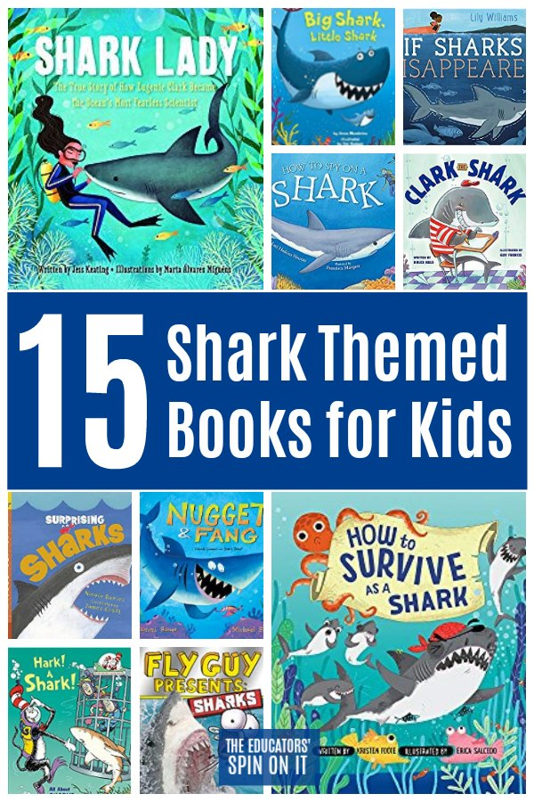 15 Shark Themed Books for Kids
