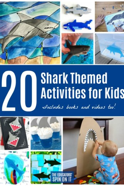 20 Shark Themes Activities for Kids featured at The Educators' Spin On It for Shark Week