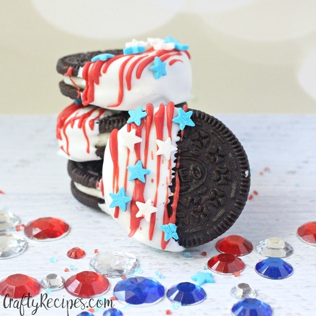 4th of July Oreo Flag Dessert