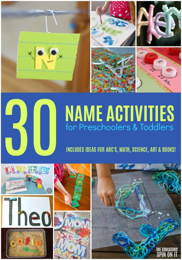 30 Name Activities for Preschoolers and Toddlers