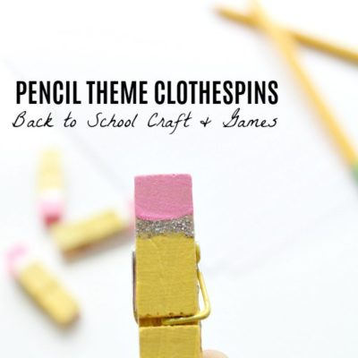 Pencil Themed Clothespins for Back to School Literacy Fun