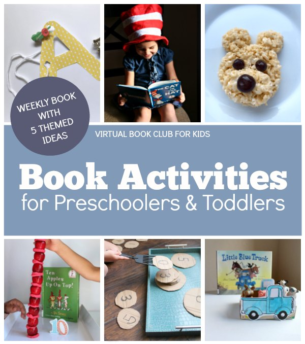 Book activities for preschoolers and toddlers at the Virtual Book Club for Kids