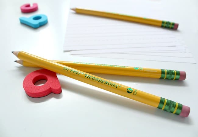 Large pencils for beginning writers from Ticonderoga