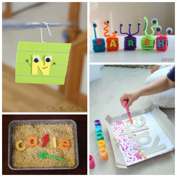 Letter Activities for learning Name Recognition for Preschoolers and Toddlers