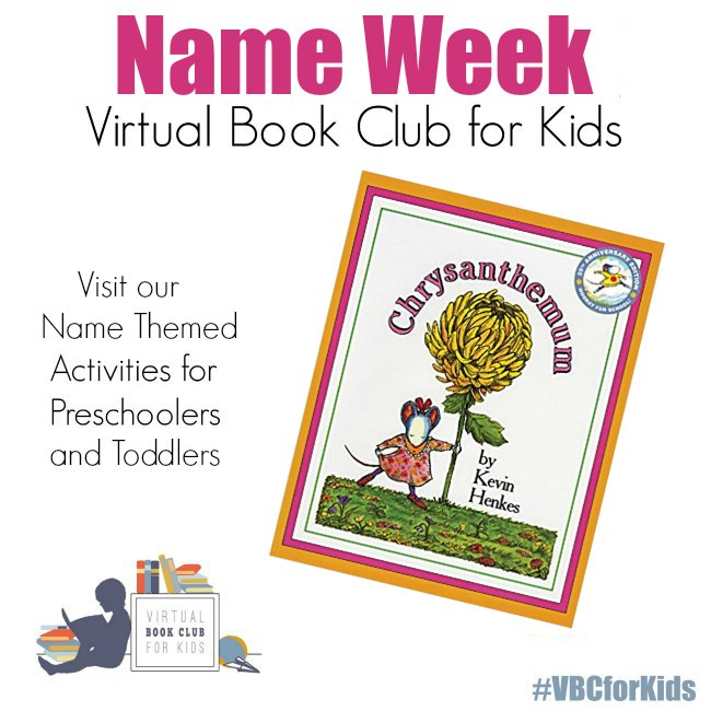 Name Themed Activities for Virtual Book Club for Kids
