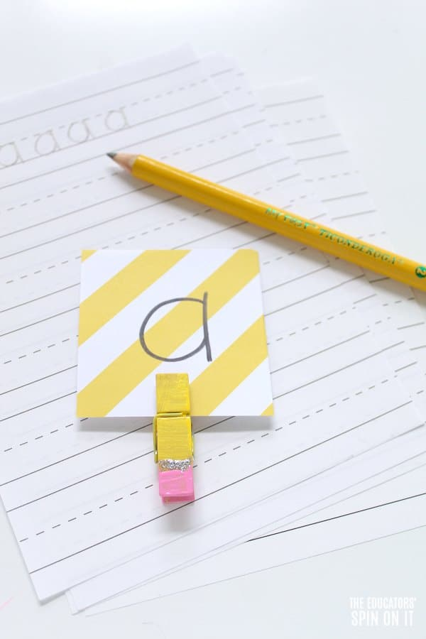 Pencil Themed Alphabet Game for Kids for Back to School