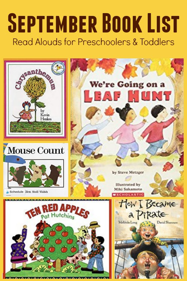 September Book List for Preschoolers and Toddlers