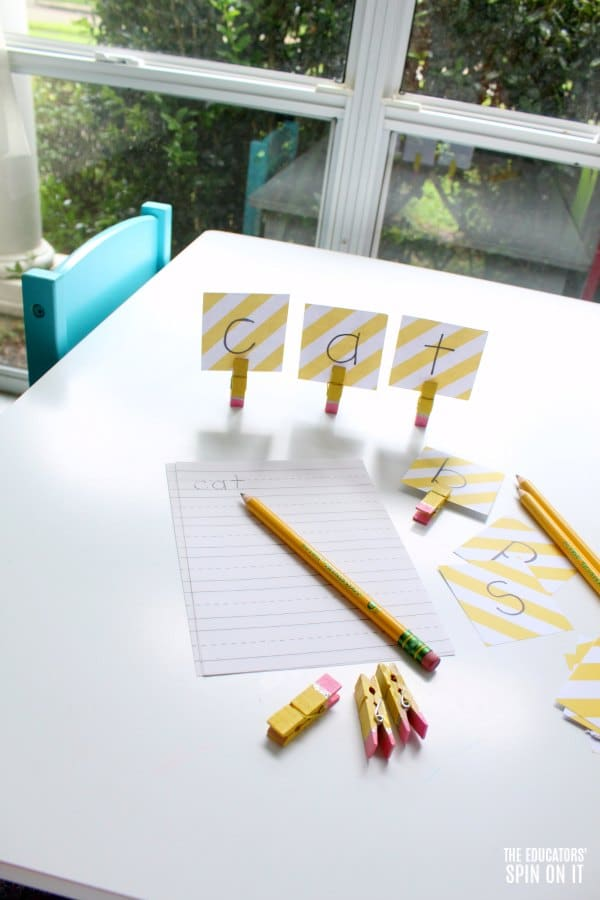 Writing Activity for Sight Words with pencils