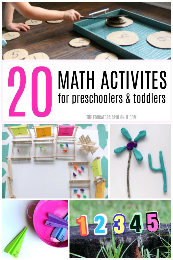 20 Math Activities for preschoolers and toddlers