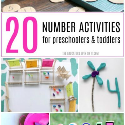 20+ Number Activities for Preschoolers and Toddlers