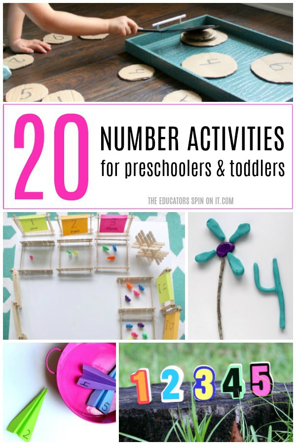 20 Number Activities for preschoolers and toddlers